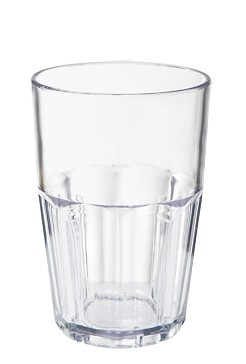 GET Clear Bahama 14 Oz. Stackable Beverage Tumbler