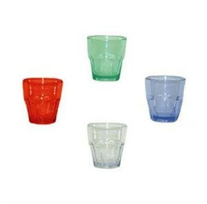 G.E.T. Enterprises 9955-1-CL Clear Bahama SAN Plastic 5.5 oz. Rocks Tumbler