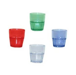 GET Clear Bahama 7 Oz. Stackable Rocks Tumbler