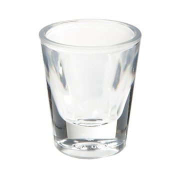 GET Clear Hard Plastic 1 Oz. Shot Glass