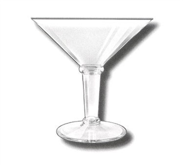 GET Clear Plastic 48 Oz. Super Martini Glass