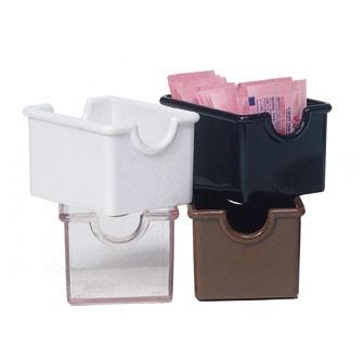"G.E.T. Enterprises SC-66-CL Clear Plastic Sugar Caddy 3-1/2"" x 2-1/2"""
