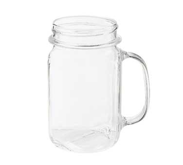 G.E.T. Enterprises MAS-3-CL Clear Polycarbonate 16 oz. Mason Jar