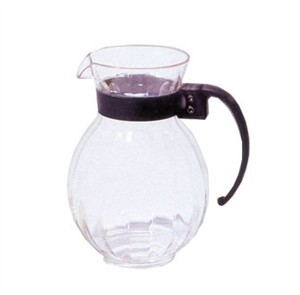 G.E.T. Enterprises P-4072-PC-CL Clear Polycarbonate Plastic 72 oz. Tahiti Pitcher