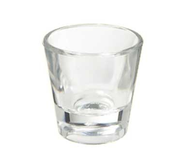 GET Clear SAN Plastic 1 Oz. Shot Glass