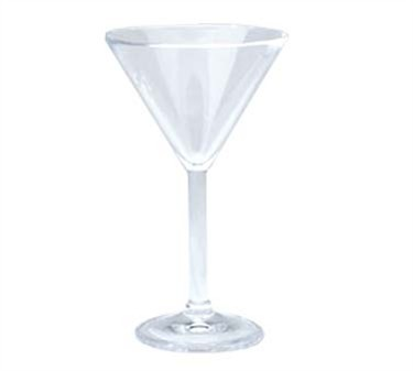 GET Clear SAN Plastic 10 Oz. Martini Glass