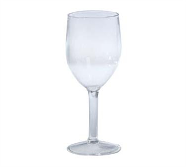 GET Clear SAN Plastic 10 Oz. Wine Glass