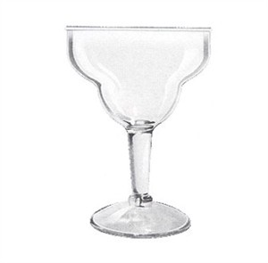 GET Clear SAN Plastic 36 Oz. Super Margarita Glass