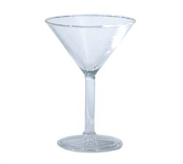 GET Clear SAN Plastic 6 Oz. Martini Glass