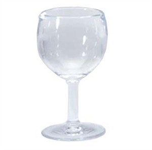 G.E.T. Enterprises SW-1406-1-SAN-CL Clear SAN Plastic 6 oz. Wine Glass