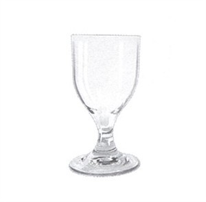G.E.T. Enterprises SW-1413-1-CL Clear SAN Plastic 8 oz. Goblet