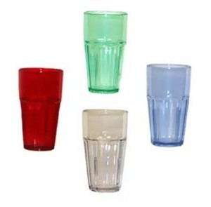 GET Clear SAN Plastic Bahama 32 Oz. Stackable Cooler Tumbler