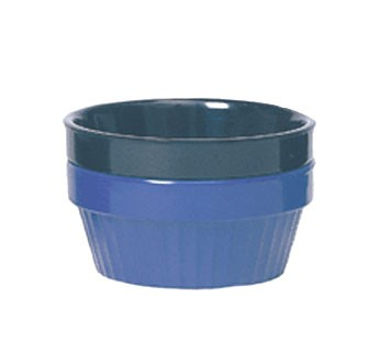 GET Cobalt Blue 4 Oz. Smooth Stackable Ramekin