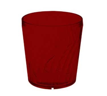 GET Commercial Grade Red Plastic 9 Oz. Tahiti Rocks Drinkware