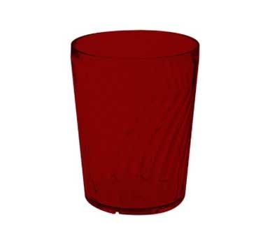 GET Commercial Grade Red Plastic 12 Oz. Tahiti Hi-Ball Drinkware