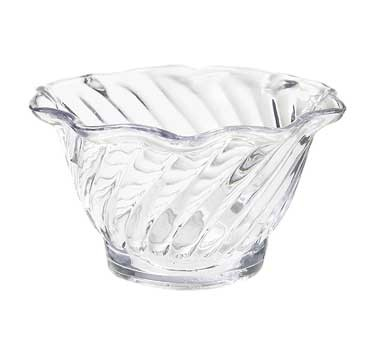 G.E.T. Enterprises DD-60-CL Dessert Time Clear 6 oz. Plastic Dessert Bowl