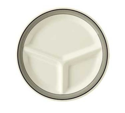 GET Diamond 3-Compartment Plate - 10-1/4