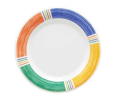 "G.E.T. Enterprises WP-10-BA Diamond Barcelona Melamine Wide Rim Plate 10-1/2"""