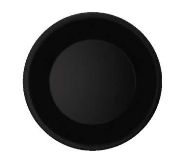 GET Diamond Black Melamine Wide Rim Plate - 10-1/2