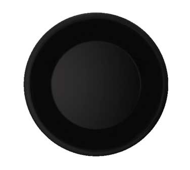 GET Diamond Black Melamine Wide Rim Plate - 7-1/2