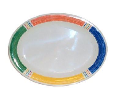 """G.E.T. Enterprises OP-120-BA Diamond Barcelona Melamine Oval Platter, 12"""" x 9"""""""