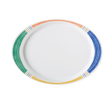 "G.E.T. Enterprises OP-145-BA Diamond Barcelona Oval Platter, 14-3/4"" x 10-1/2"""