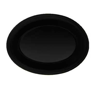 GET Diamond Mardi Gras Black Melamine Oval Platter - 12