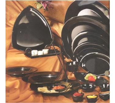 """G.E.T. Enterprises OP-621-BK Milano Black Melamine Oval Platter, 21"""" x 15"""""""