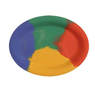 "G.E.T. Enterprises OP-135-CE Diamond Celebration Melamine Oval Platter, 13-1/2"" x 10-1/4"""