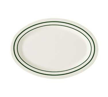 "G.E.T. Enterprises OP-120-EM Emerald Melamine Oval Platter, 12"" x 9"""