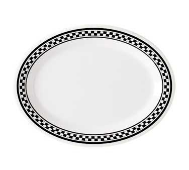 GET Diamond Mardi Gras Chexers Melamine Oval Platter - 12