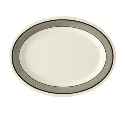 "G.E.T. Enterprises OP-950-CA Diamond Cambridge Melamine Oval Platter, 9-1/2"" x 7-1/4"""