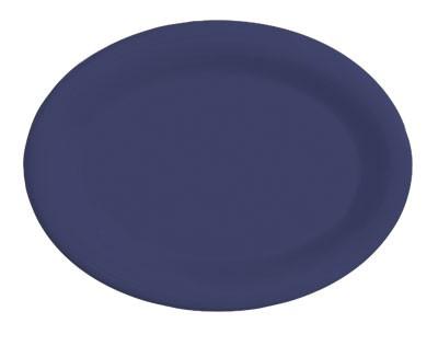 "G.E.T. Enterprises OP-120-PB Diamond Mardi Gras Peacock Blue Oval Platter, 12"" x 9"""