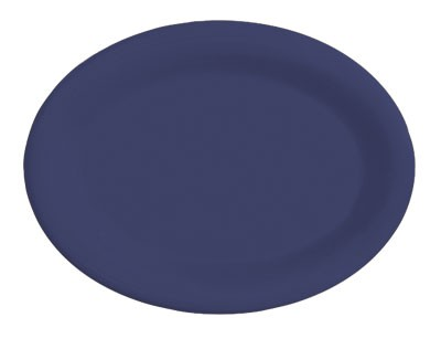 GET Diamond Mardi Gras Peacock Blue Oval Platter - 14.75