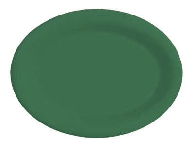 "G.E.T. Enterprises OP-120-FG Diamond Mardi Gras Rainforest Green Oval Platter, 12"" x 9"""