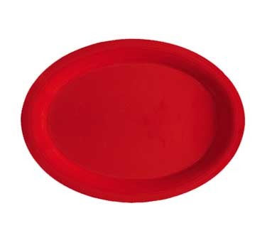 "G.E.T. Enterprises OP-950-RSP Red Sensation Melamine Oval Platter, 9-1/2"" x 7-1/4"""