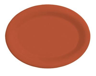 "G.E.T. Enterprises OP-145-RO Diamond Mardi Gras Rio Orange Oval Platter, 14-3/4"" x 10-1/2"""