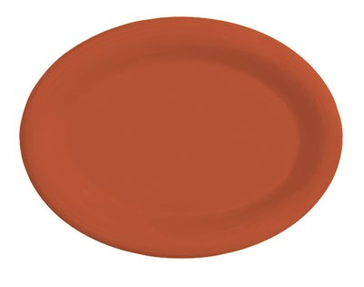 "G.E.T. Enterprises OP-950-RO Diamond Mardi Gras Rio Orange Oval Platter, 9-1/2"" x 7-1/4"""