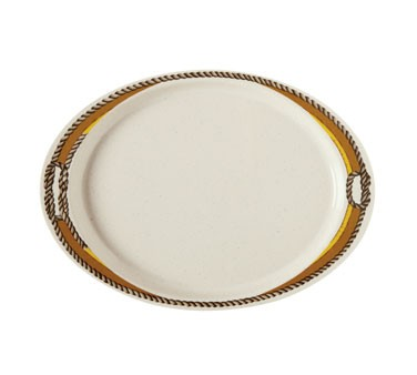 "G.E.T. Enterprises OP-145-RD Diamond Rodeo Oval Platter, 14-3/4"" x 10-1/2"""