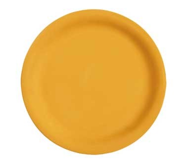 GET Diamond Mardi Gras Tropical Yellow Narrow Rim Plate - 10-1/2