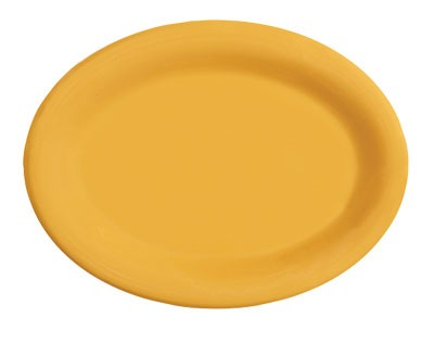 "G.E.T. Enterprises OP-120-TY Diamond Mardi Gras Tropical Yellow Oval Platter, 12"" x 9"""