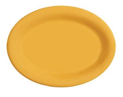 "G.E.T. Enterprises OP-135-TY Diamond Mardi Gras Tropical Yellow Oval Platter, 13-1/2"" x 10-1/4"""