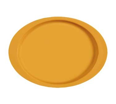 "G.E.T. Enterprises OP-145-TY Diamond Mardi Gras Tropical Yellow Oval Platter, 14-3/4"" x 10-1/2"""