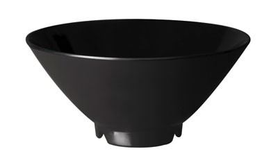 G.E.T. Enterprises 0180-BK Black Elegance Melamine 10 oz. Soup/Rice Bowl