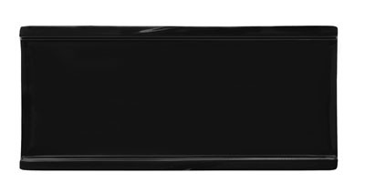 "G.E.T. Enterprises 140-BK Diamond Melamine Rectangular Black Plate 9 1/2"" x 4 3/8"""