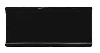 """G.E.T. Enterprises 140-BK Black Elegance Melamine Rectangular Plate 9 1/2"""" x 4 3/8"""""""