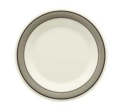"G.E.T. Enterprises WP-9-CA Diamond Cambridge Melamine Wide Rim Plate 9"""
