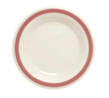 "G.E.T. Enterprises WP-9-Ox Diamond Oxford Orange Melamine Wide Rim Plate 9"""