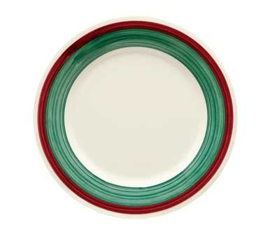 G.E.T. Enterprises WP-10-PO Diamond Portofino Melamine Wide Rim Plate 10-1/2""