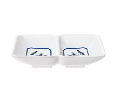 "G.E.T. Enterprises 037-B Water Lily 2-Compartment Sauce Dish, 4"" x 3"""